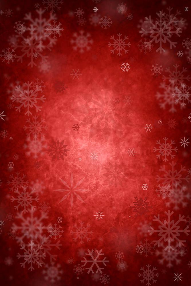 Crimson & Snowflakes potištěné vinylové pozadí