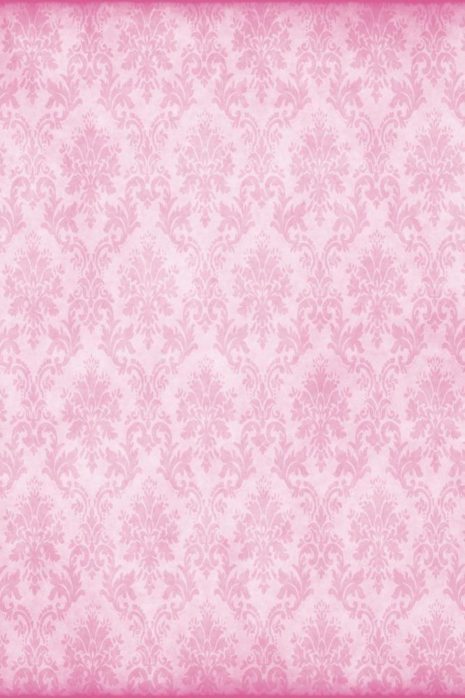 Pink Damask potištěné vinylové pozadí