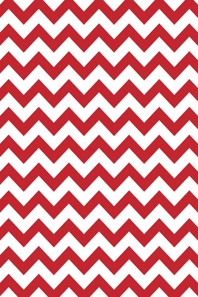 Savage Red & White Chevron